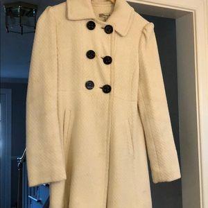 Cream Tweed Pea Coat